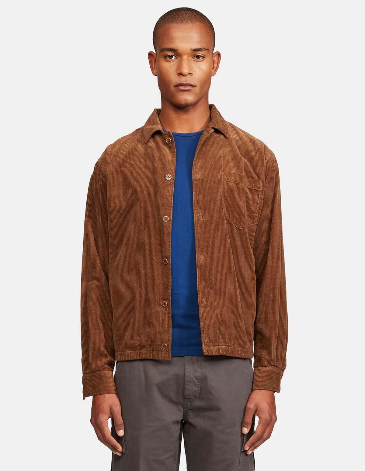 Aspesi Bongo Shirt Jacket - TOBACCO