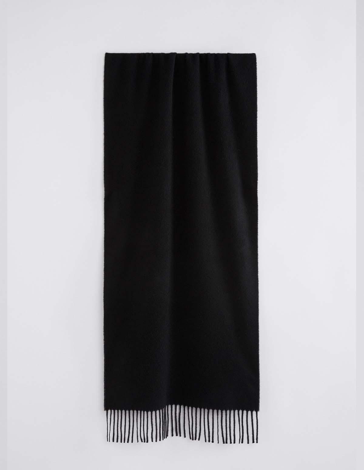 Fk Cashmere Blend Scarf - BLACK