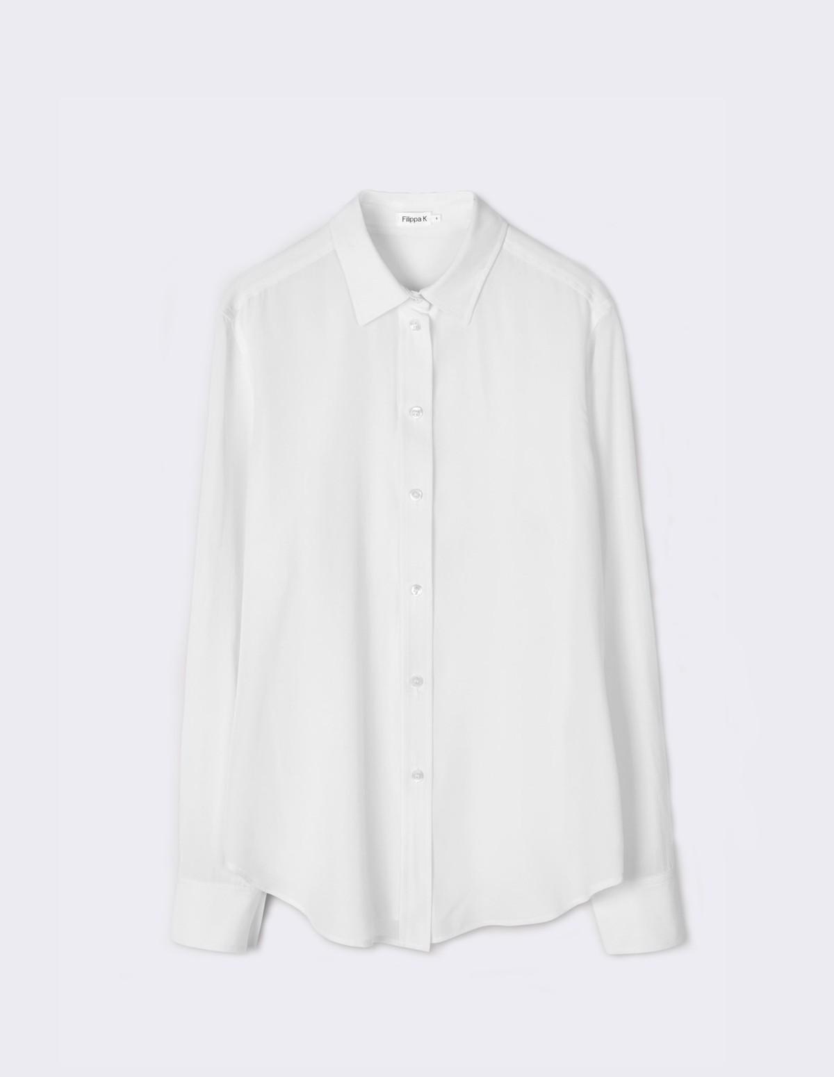 Classic Silk Shirt - WHITE
