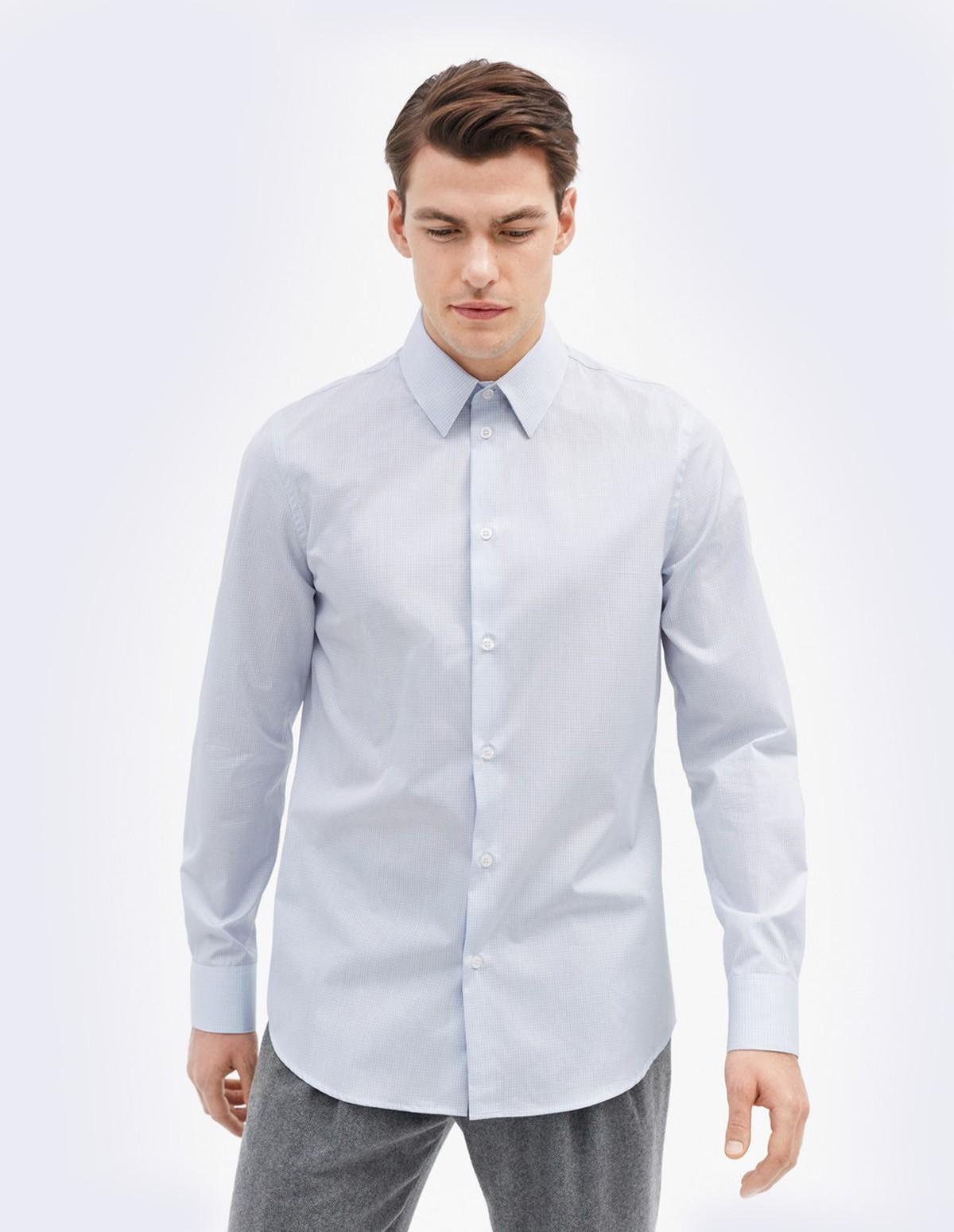 M. James Check Shirt