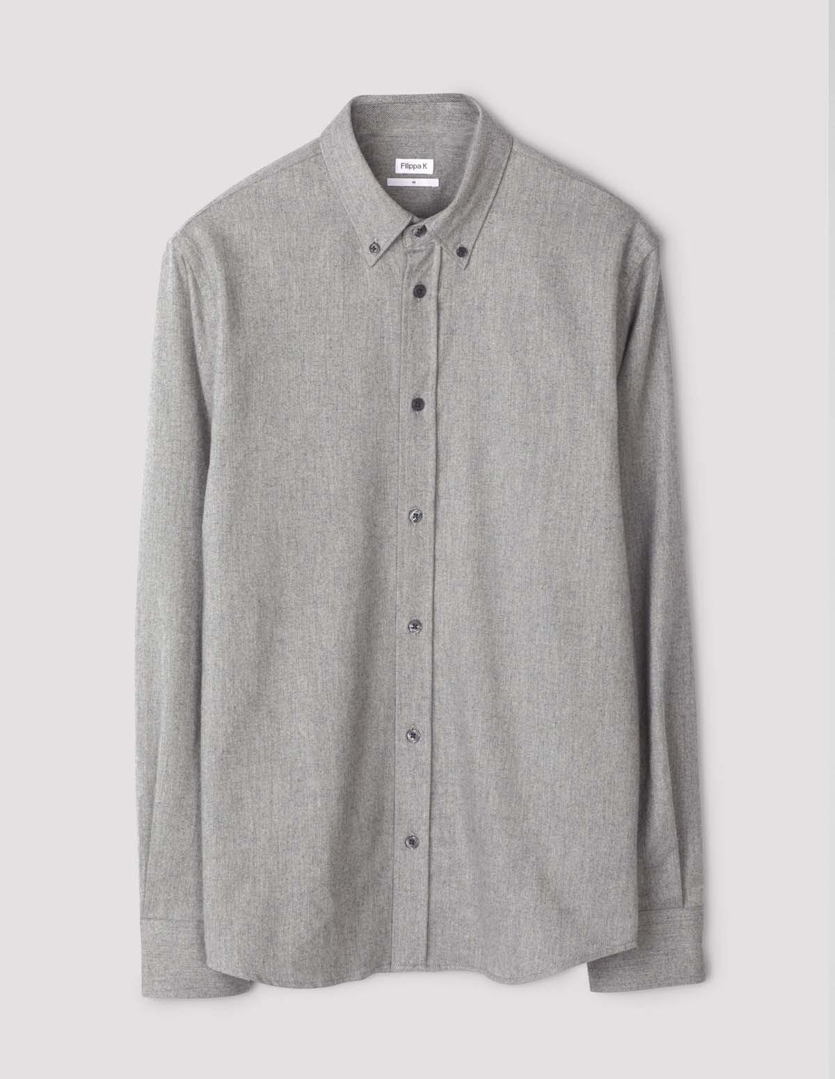 Fk Lewis Flannel Shirt - GREY MEL