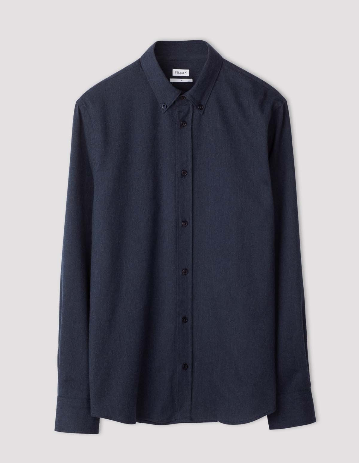 Fk Lewis Flannel Shirt - DARK BLUE