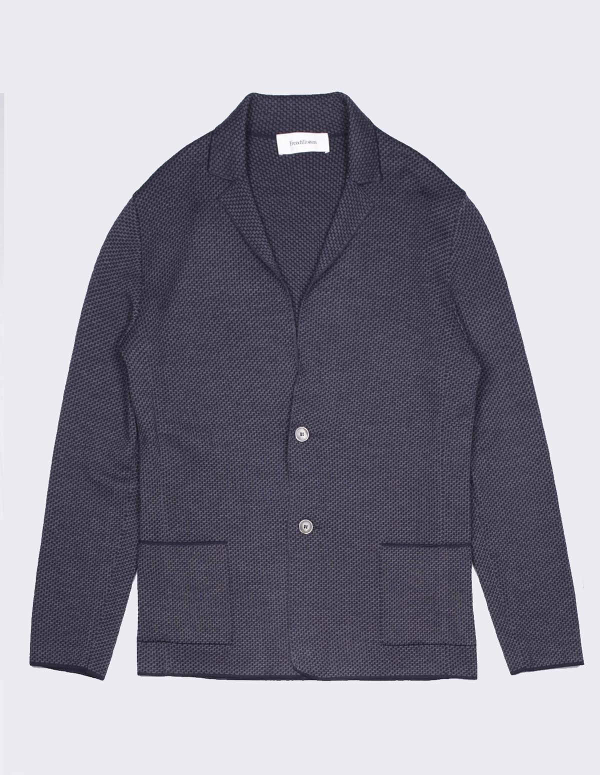 Ft Soft Blazer - BLUE/GREY