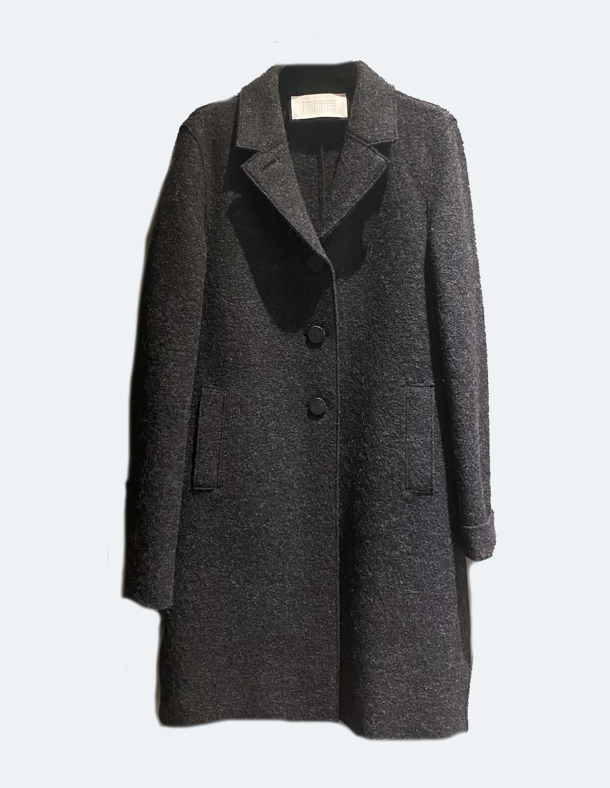 Hwl Button Up Boxy Coat - ANTHRACITE