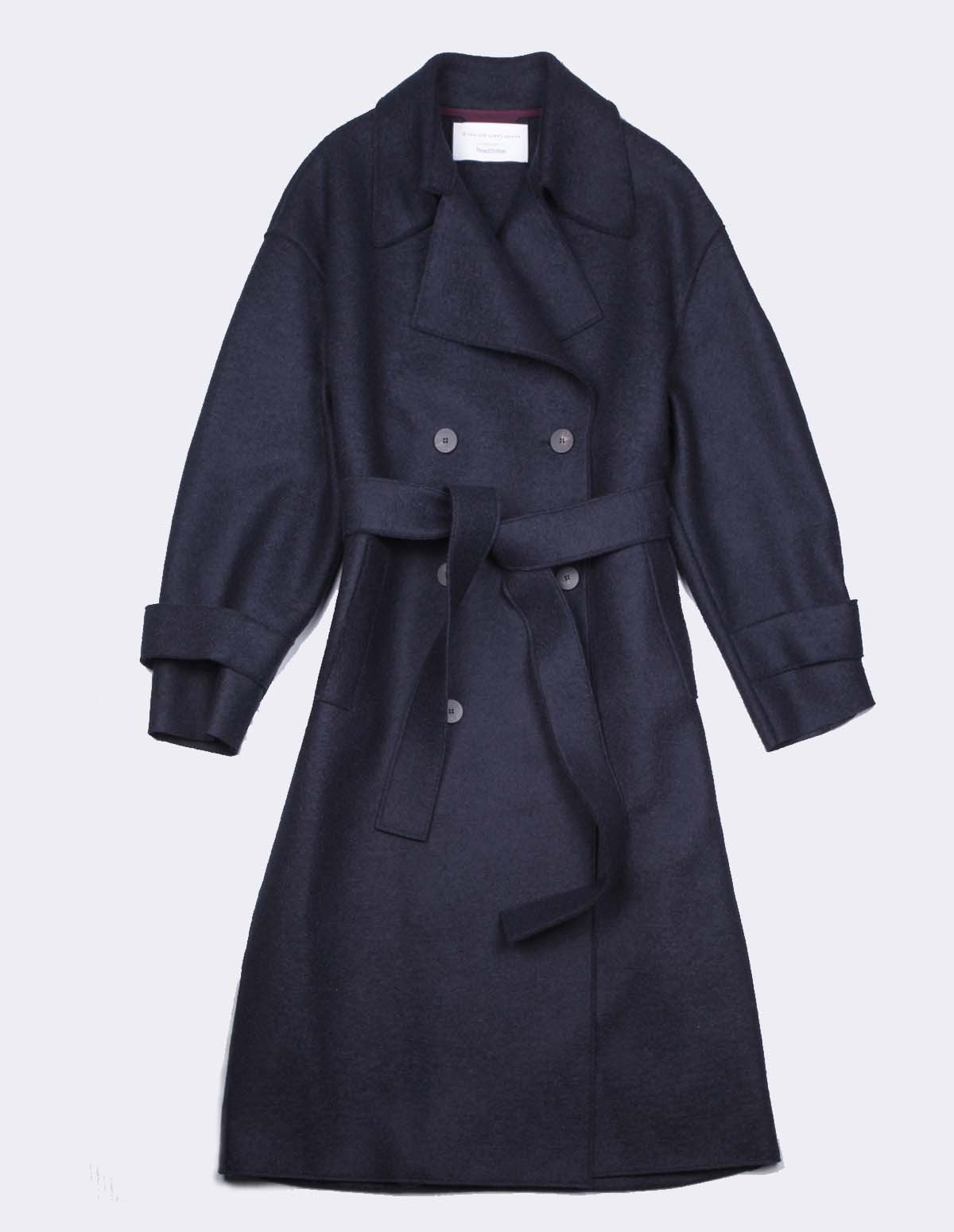 Hwl Oversized Trench Coat - DARK BLUE