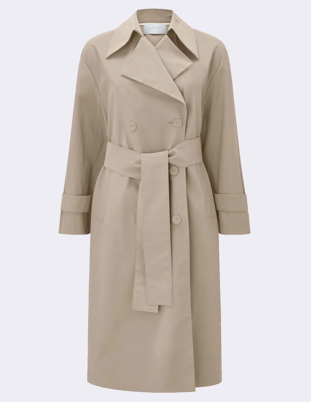 Owl Women Oversized Trench - CAMEL