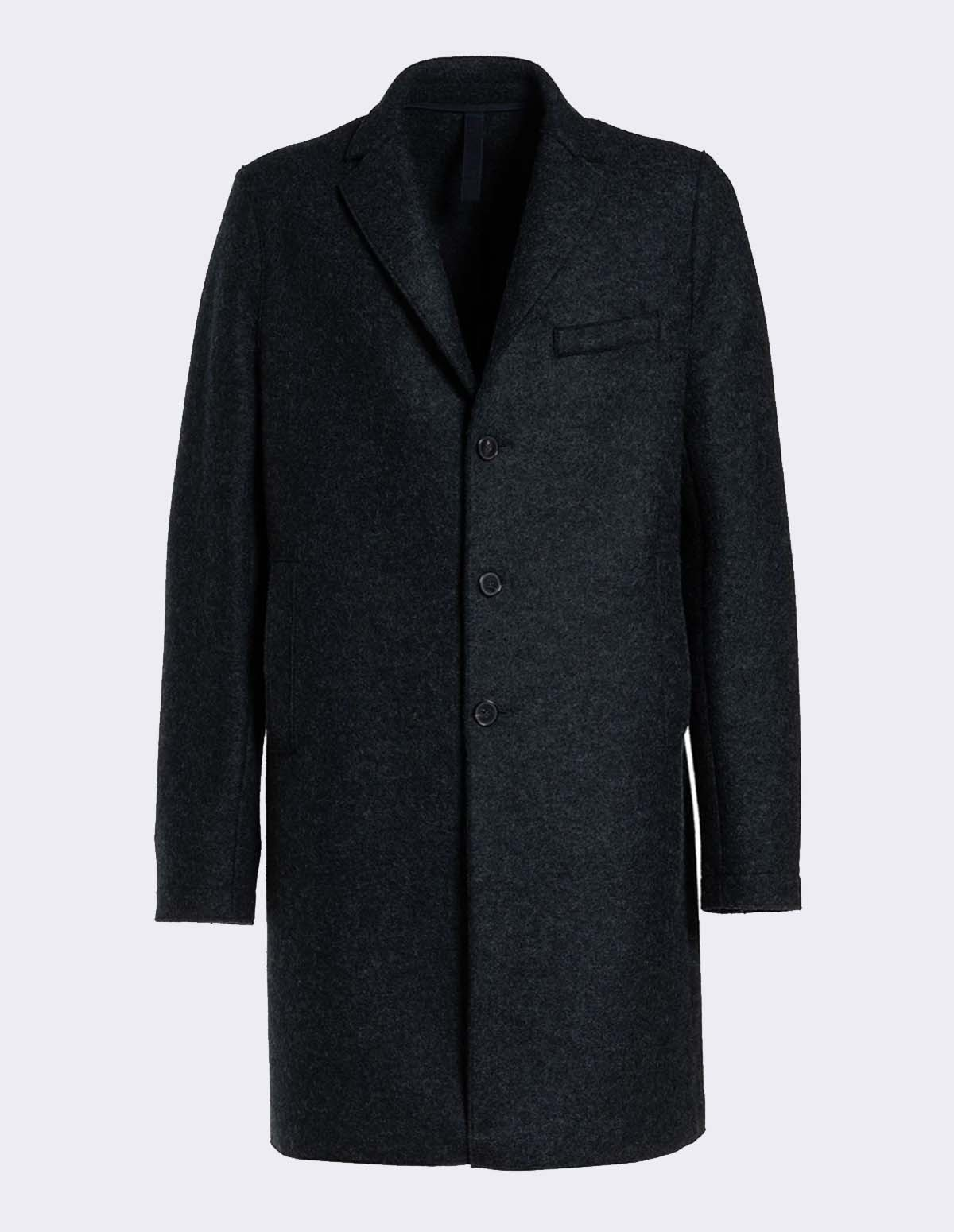 Hwl Men Boxy Coat - ANTHRACITE