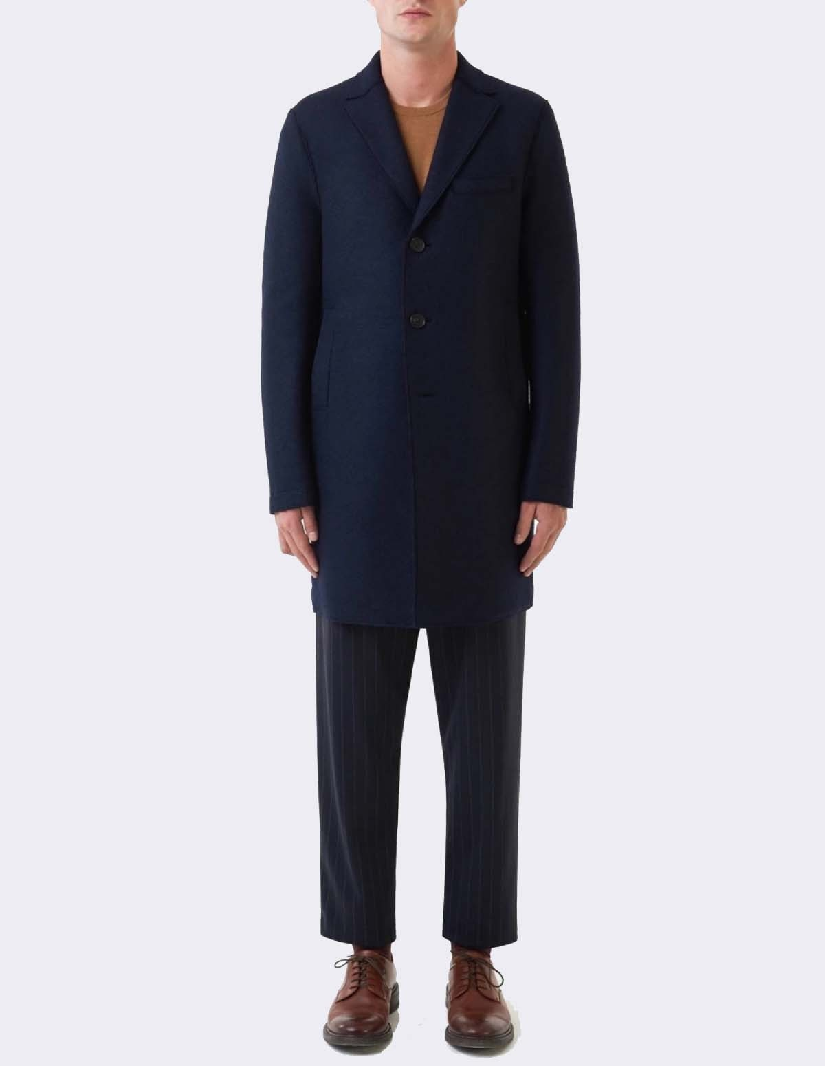 Hwl Men Boxy Coat - DARK BLUE
