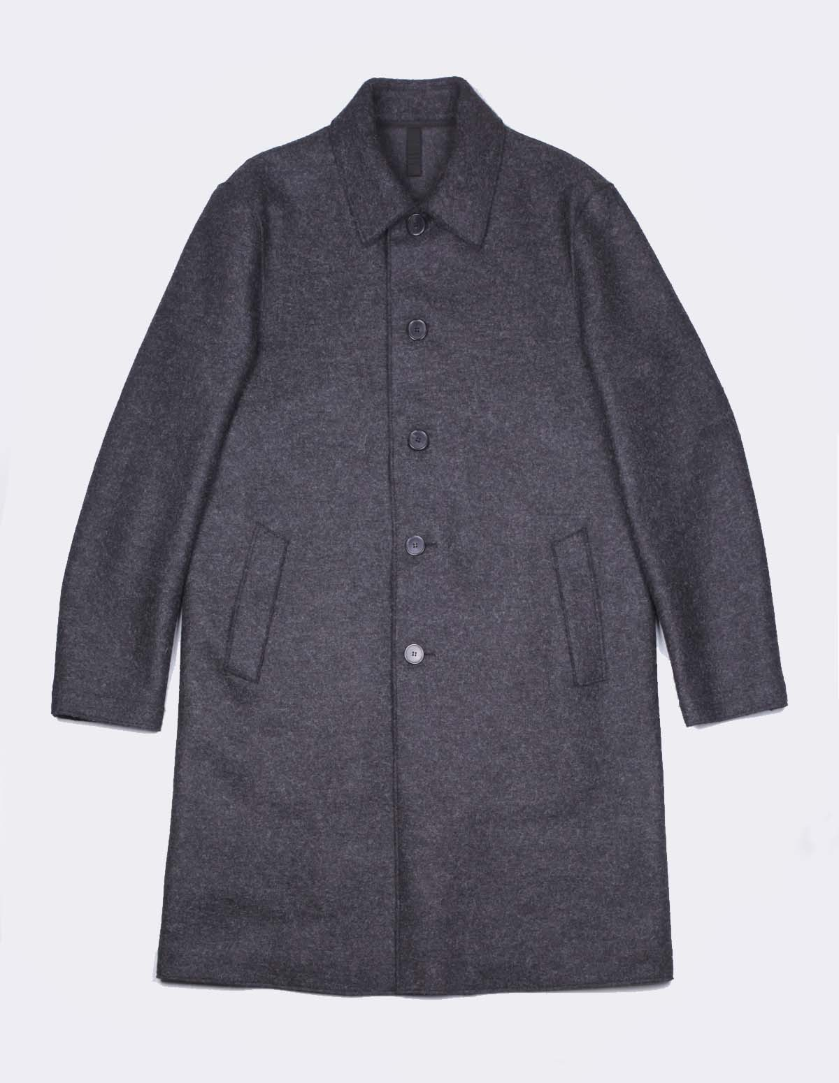 Hwl Men Mac Coat - ANTHRACITE MOUL