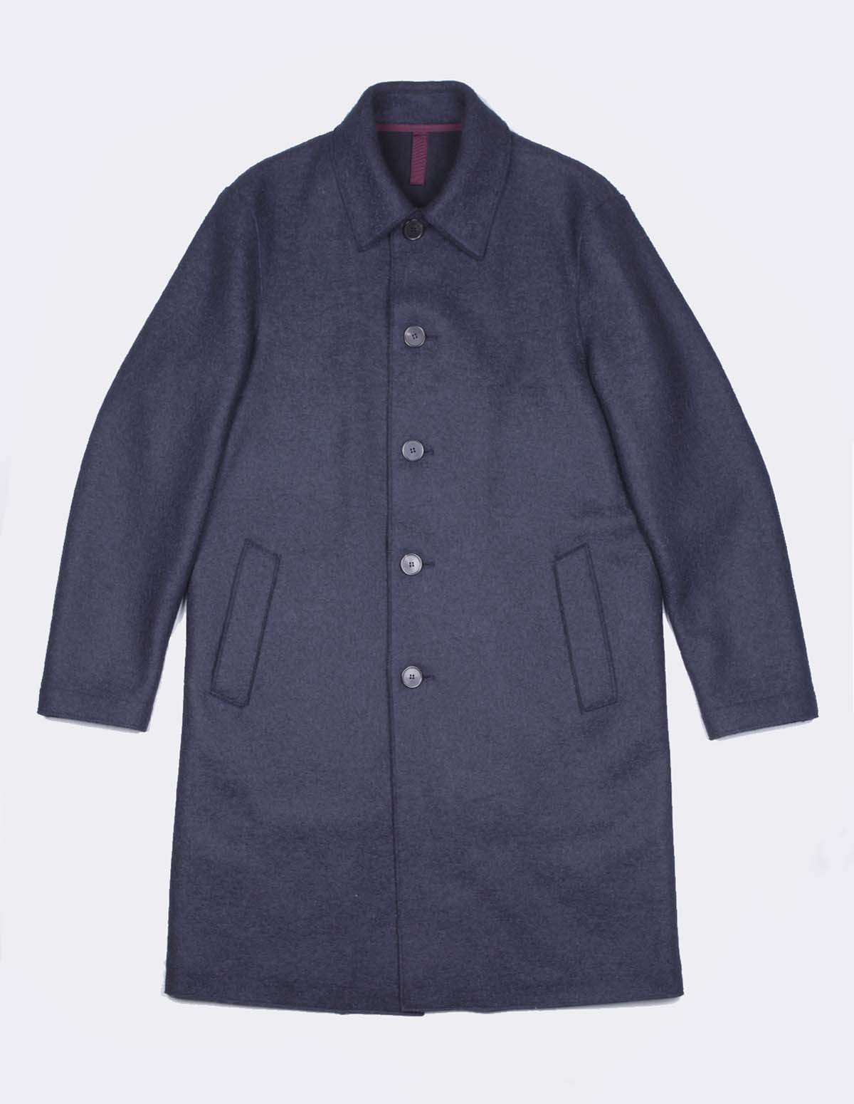 Hwl Men Mac Coat - DARK BLUE