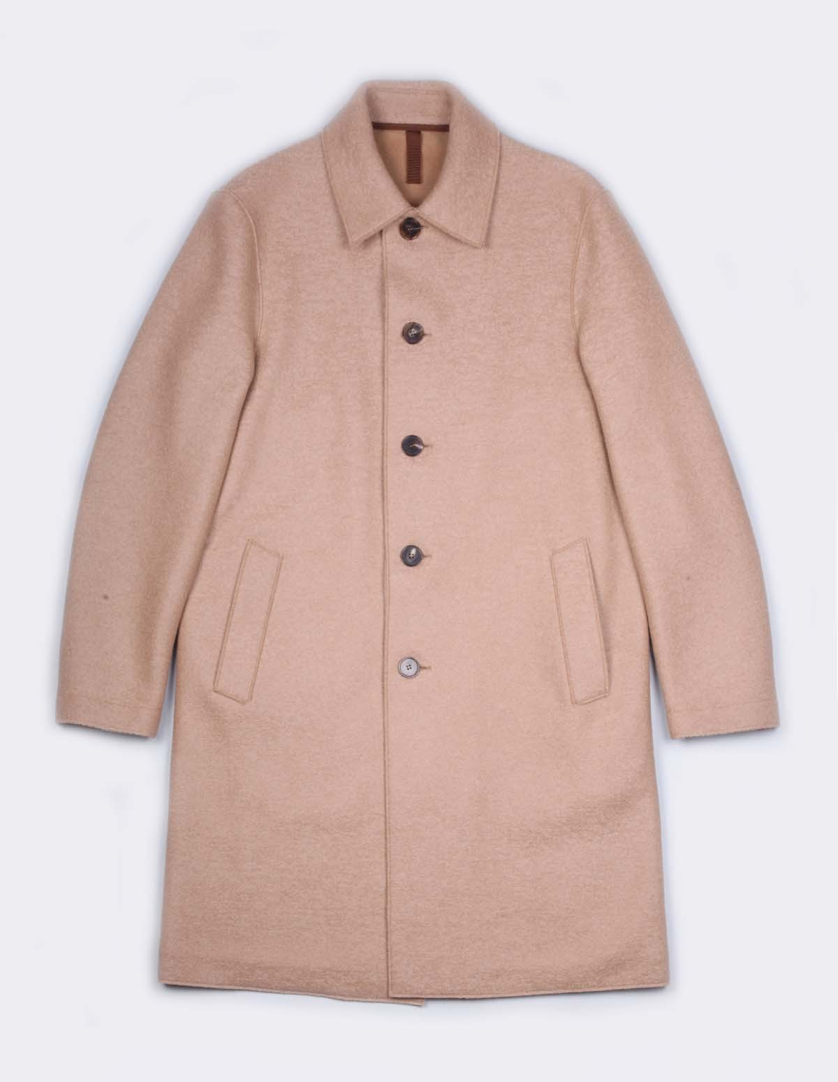 Hwl Men Mac Coat - TAN