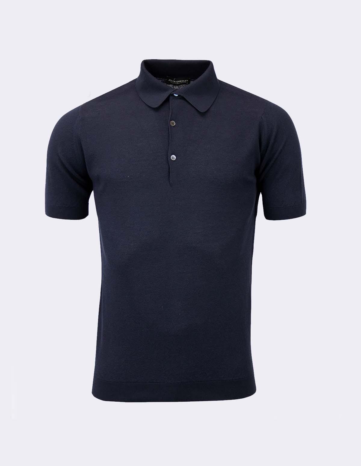 Roth Pique Shirt Ss - NAVY