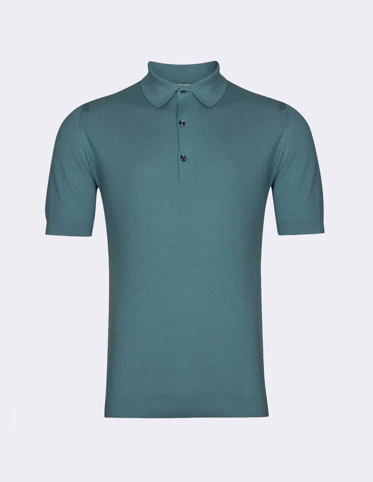 Roth Pique Shirt Ss - BLUE WASH