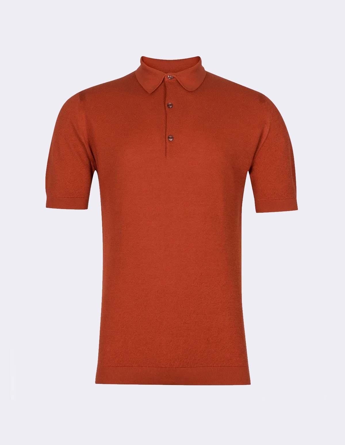 Roth Pique Shirt Ss - CINNAMON