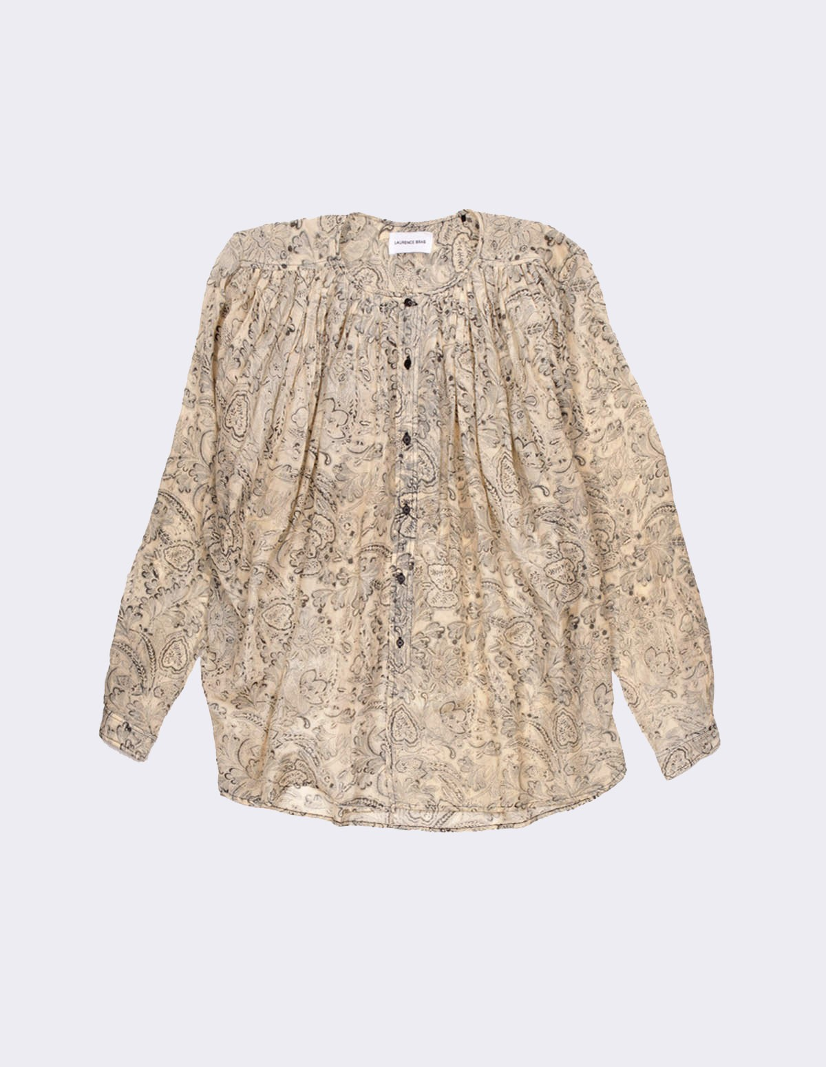 Lb Cigar Top - PAISLEY BLACK