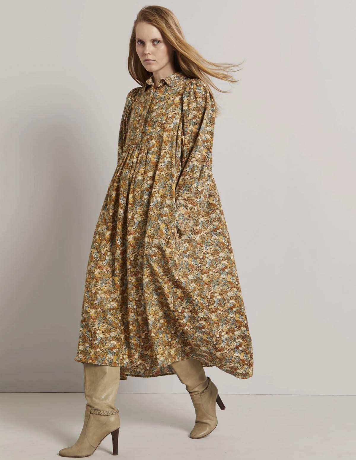 Lb Heart Dress - BROWN FLORAL