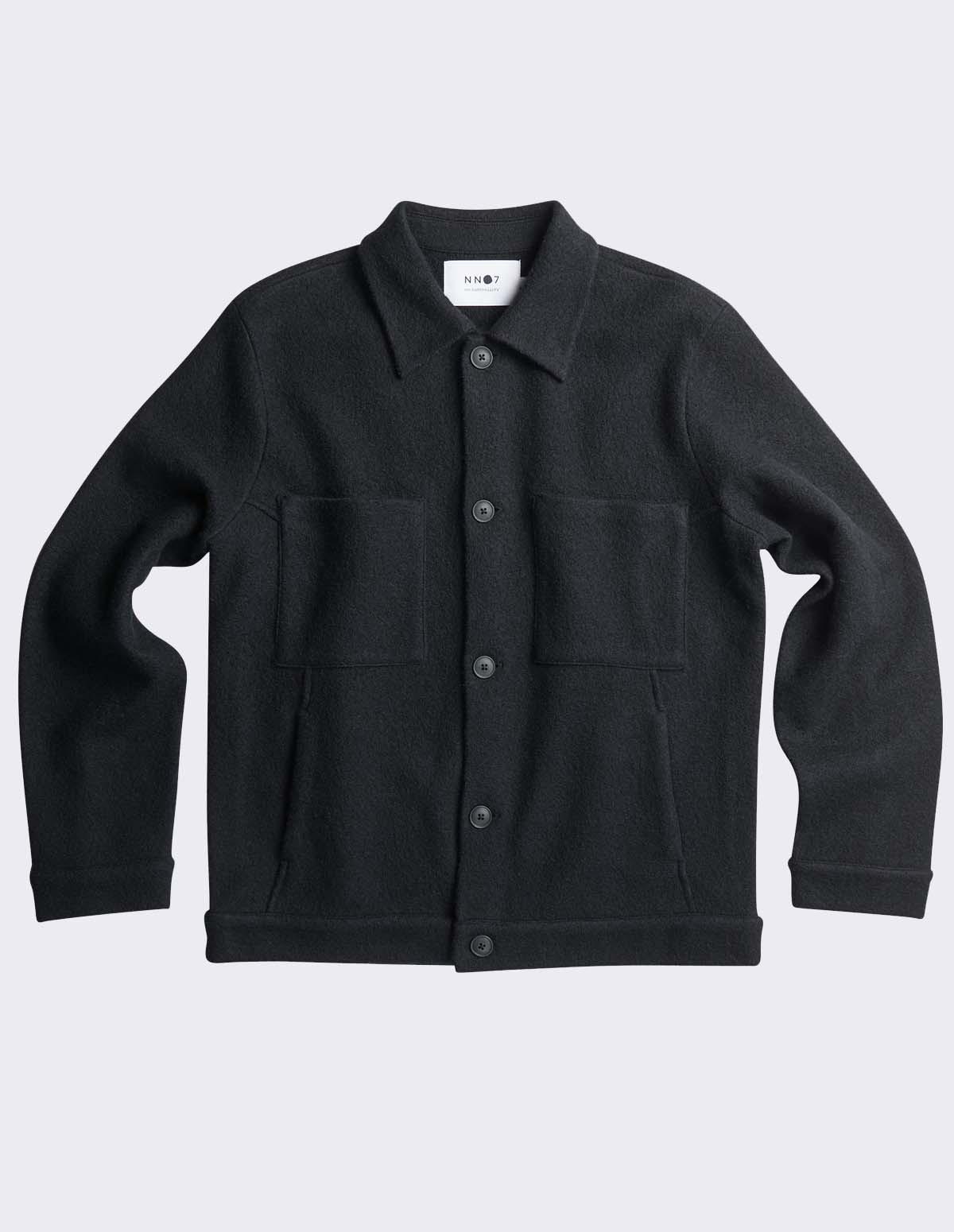 Nn07 Alvin Boiled Wool 6400 - 999 BLACK