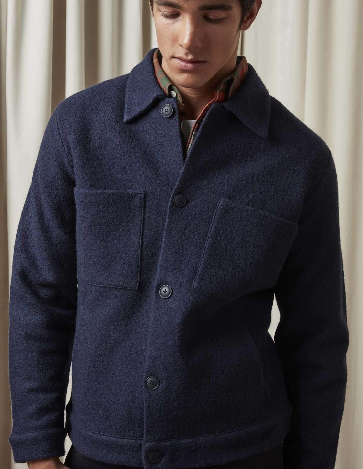 Nn07 Alvin Boiled Wool 6400 - 200 NAVY
