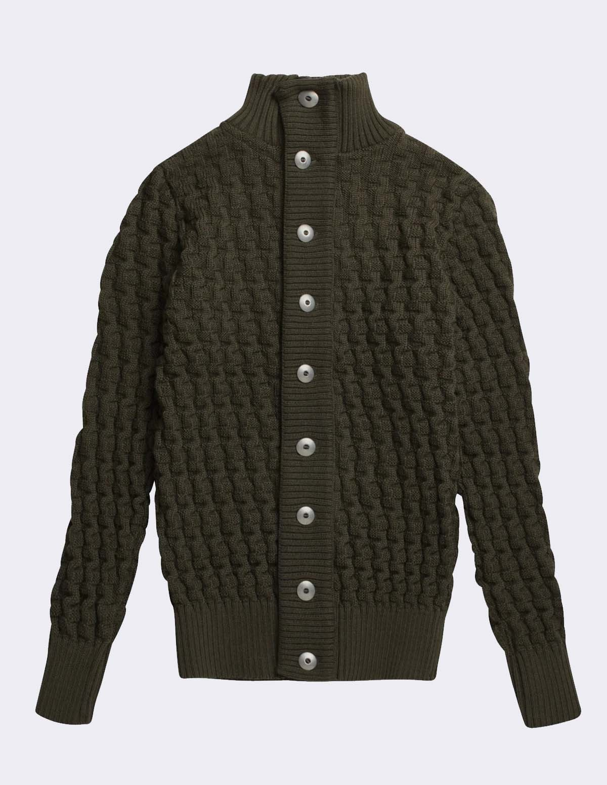 Sns Stark Cardigan - DEEP BRONZE GREEN