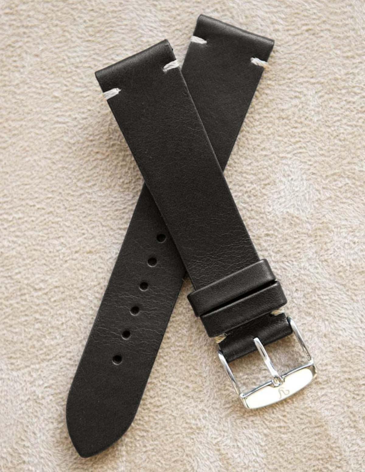 Bracelet Vintage Cuir Noir