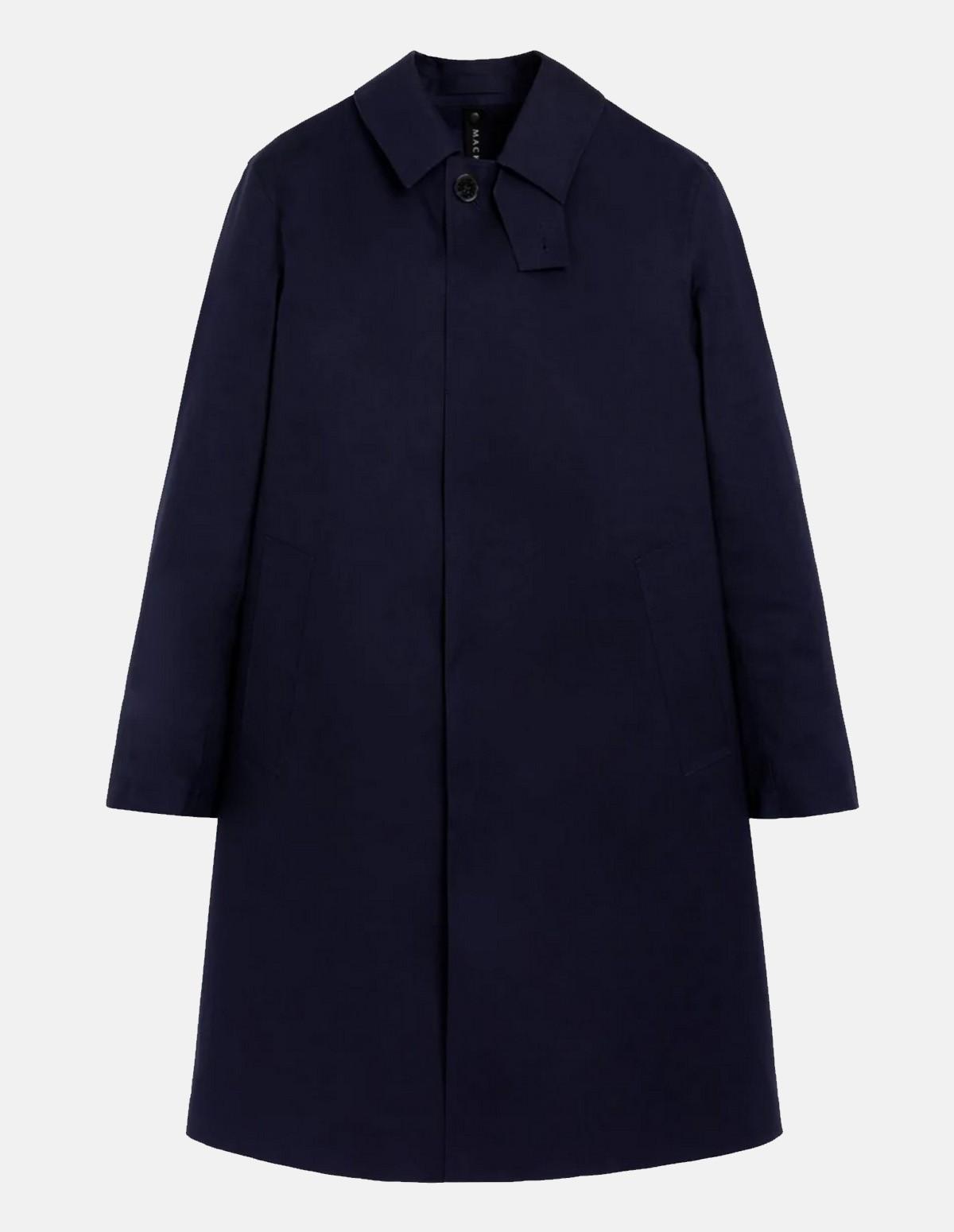 Mac Rop6718 Oxford Overcoat - NAVY