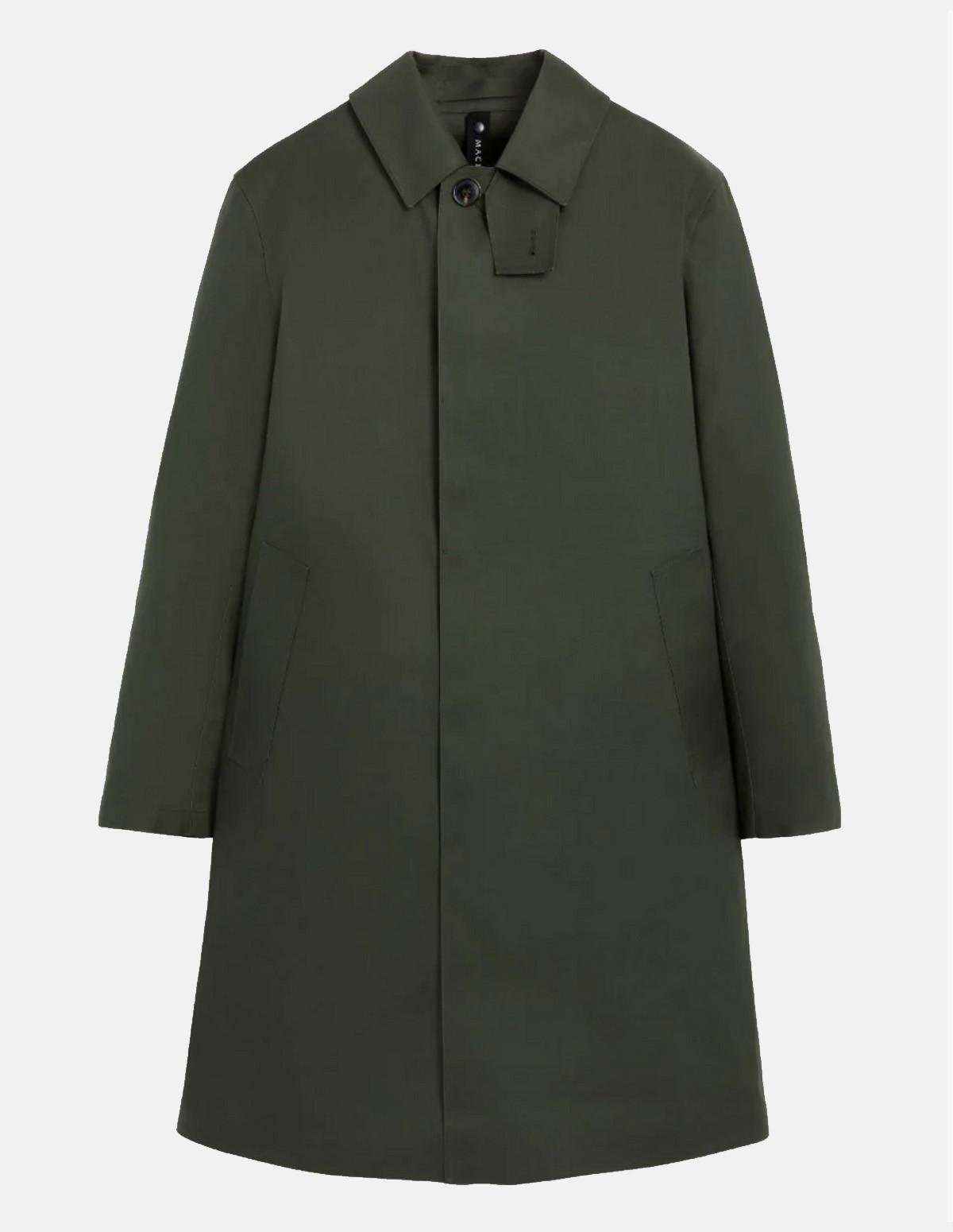 Mac Rop6718 Oxford Overcoat - BOTTLE GREEN