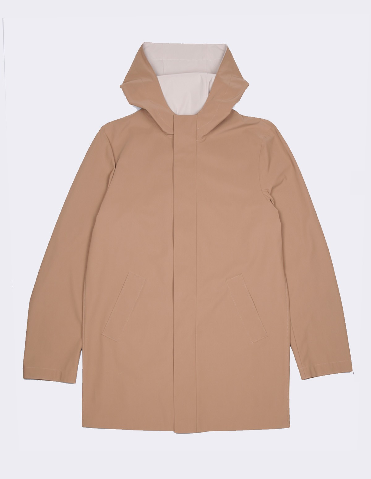 Hwl Men Bicolour Long Parka