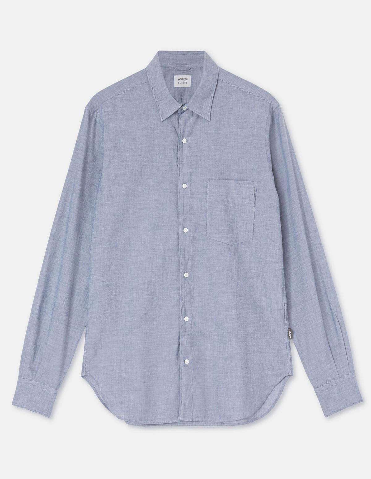 Aspesi Ridotta Ii Shirt - CHAMBRAY