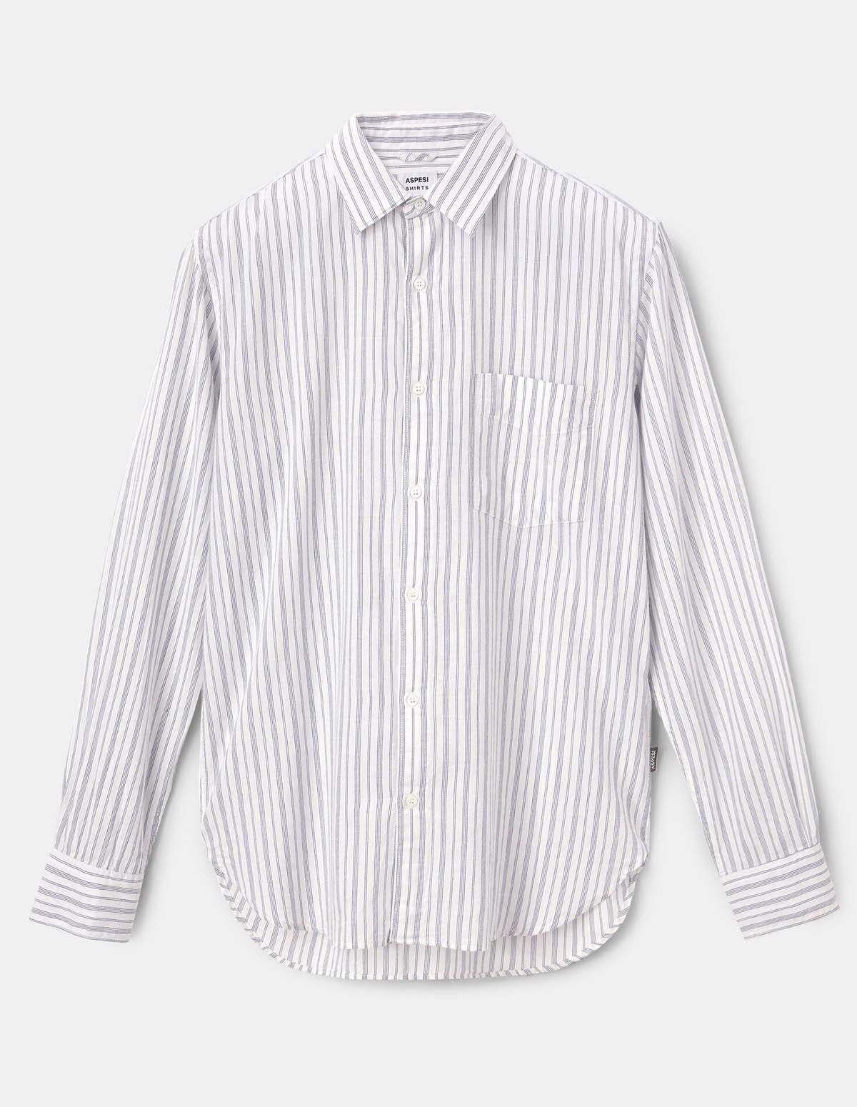 Aspesi Ridotta Ii Shirt - MICROSTRIPE BLU