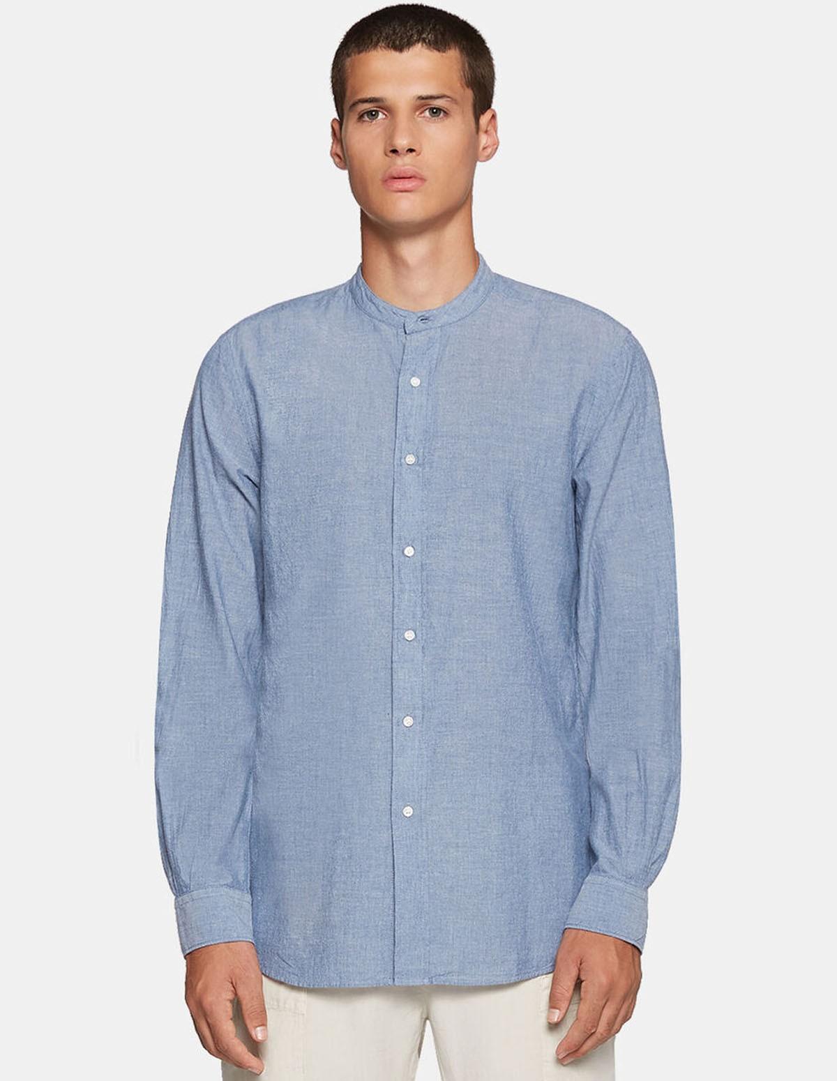 Aspesi Camicia Bruce Shirt - CHAMBRAY