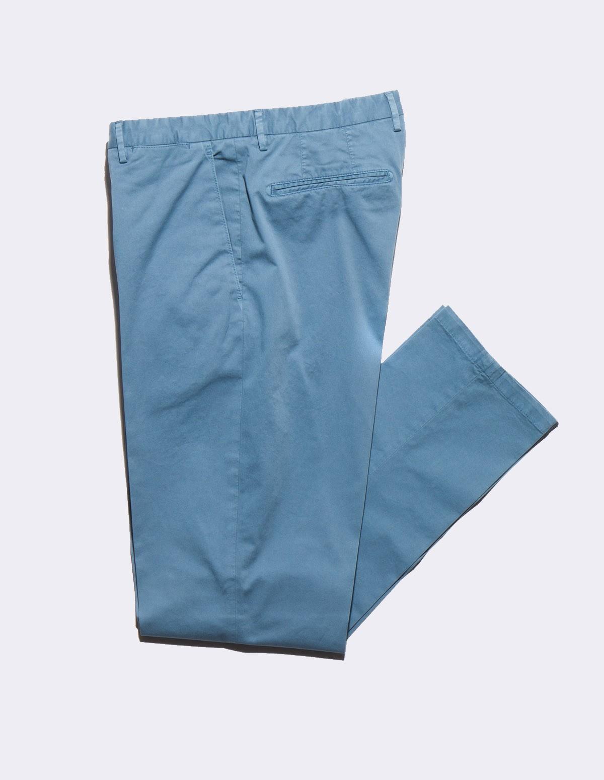Boglioli Cotton Twill Pants - 0670 BLEU
