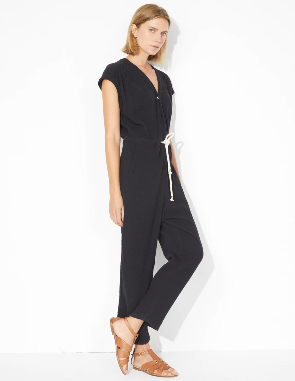 Masscob Bitti Jumpsuit - BLACK