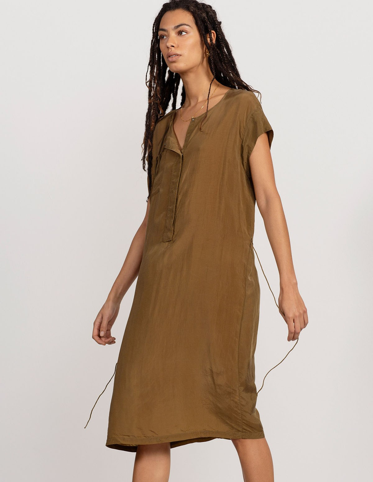 Huma French Dress - MILITARY