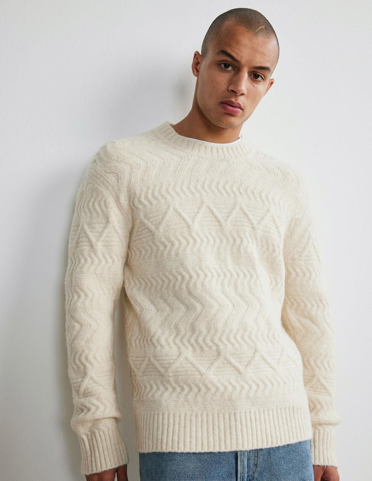 Nn07 Dominic Sweater - 020 ECRU