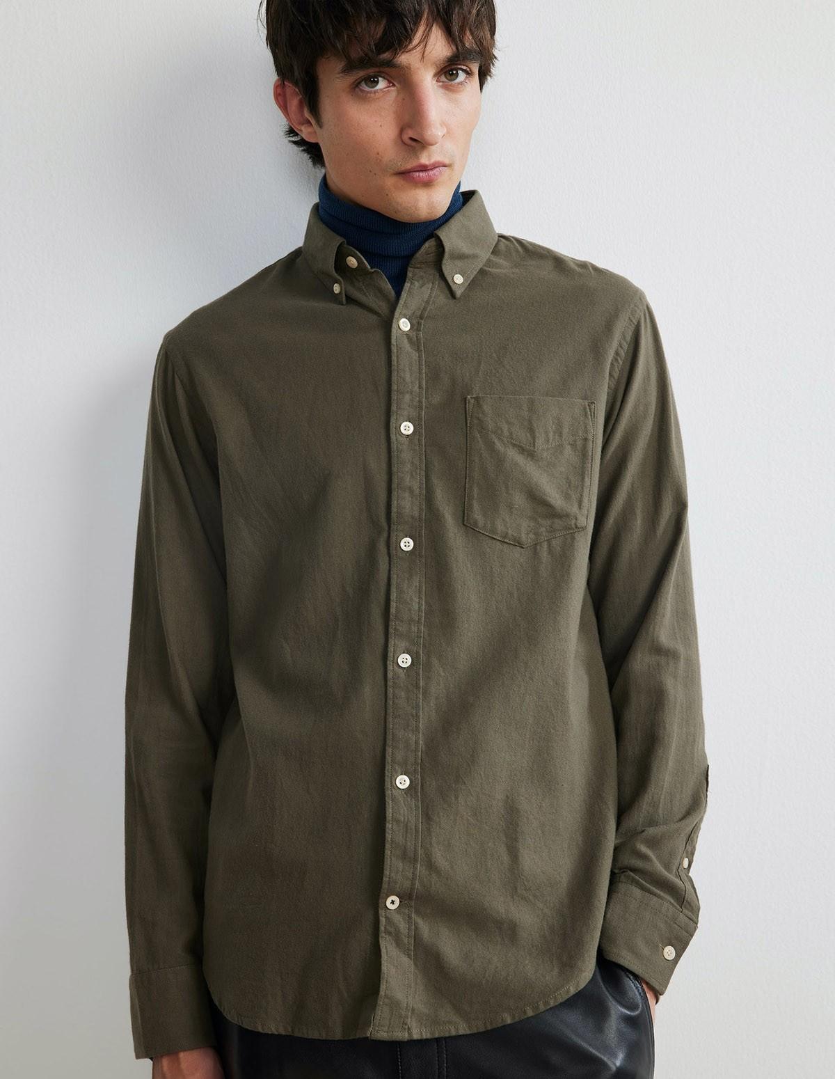 Nn07 Levon Shirt - 322 ARMY