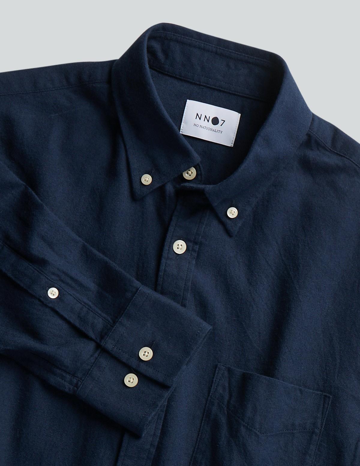 Nn07 Levon Shirt - 200 NAVY