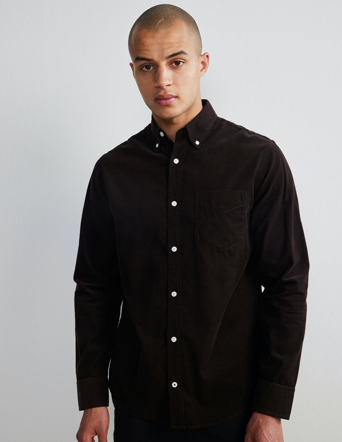 Nn07 Levon Corduroy Shirt - 558 DARK WINE