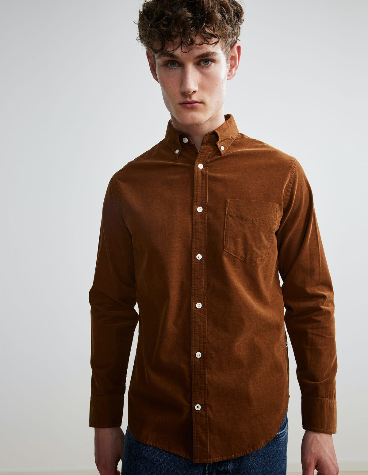 Nn07 Levon Corduroy Shirt - 801 CANELA BROWN