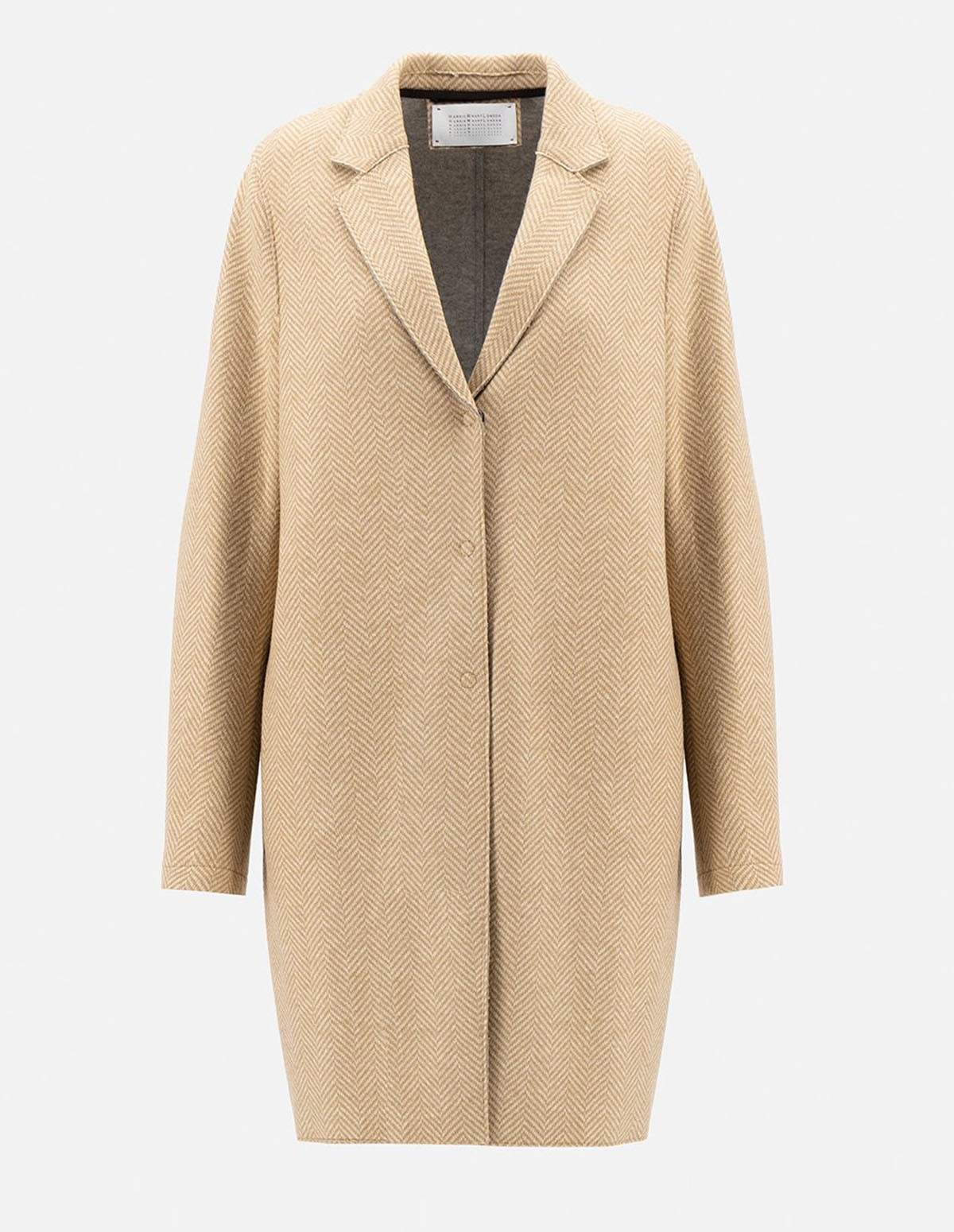 Hwl W Cocoon Coat Cashmere - TAN 441