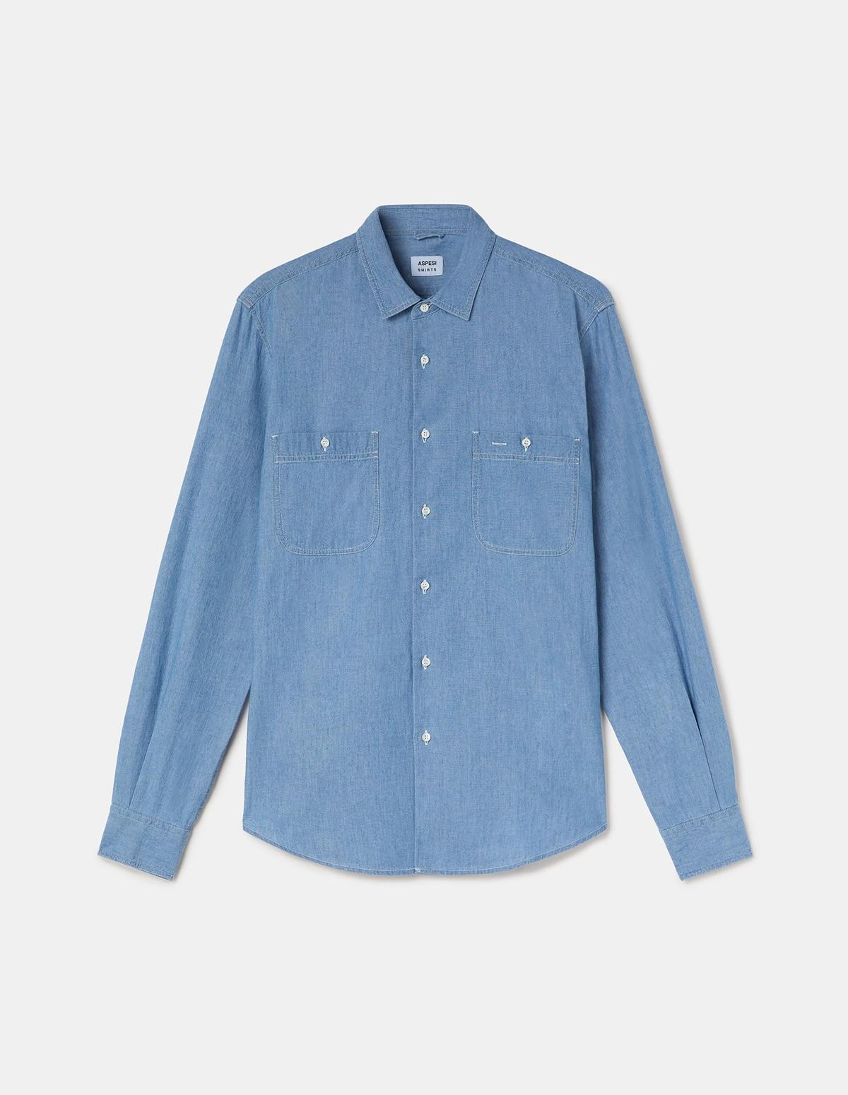 Aspesi Men's Shirt Slim - DENIM
