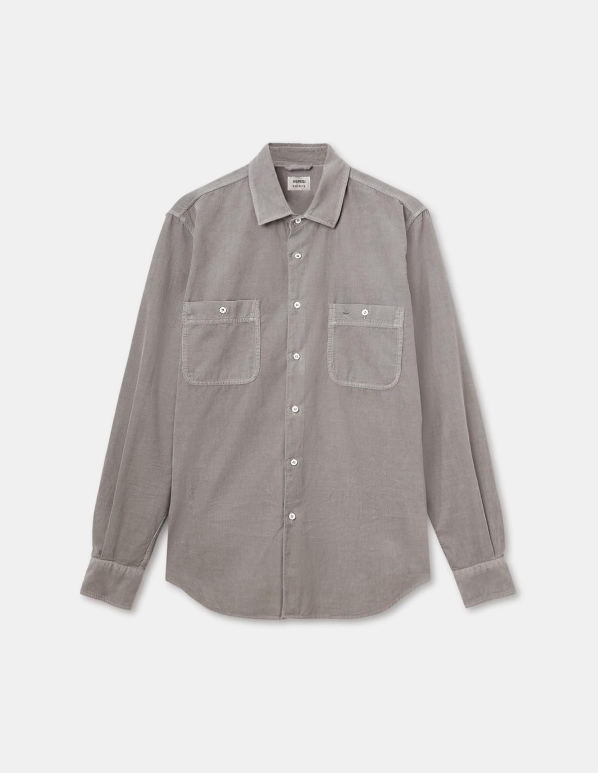 Aspesi Men's Shirt Slim Old - GREY