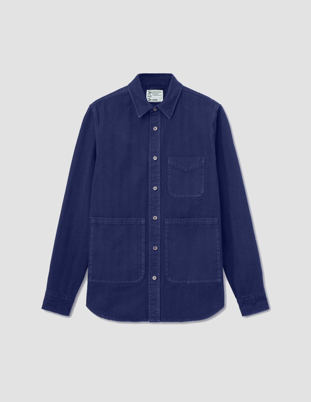 Aspesi Men's Ut Shirt - BLUE