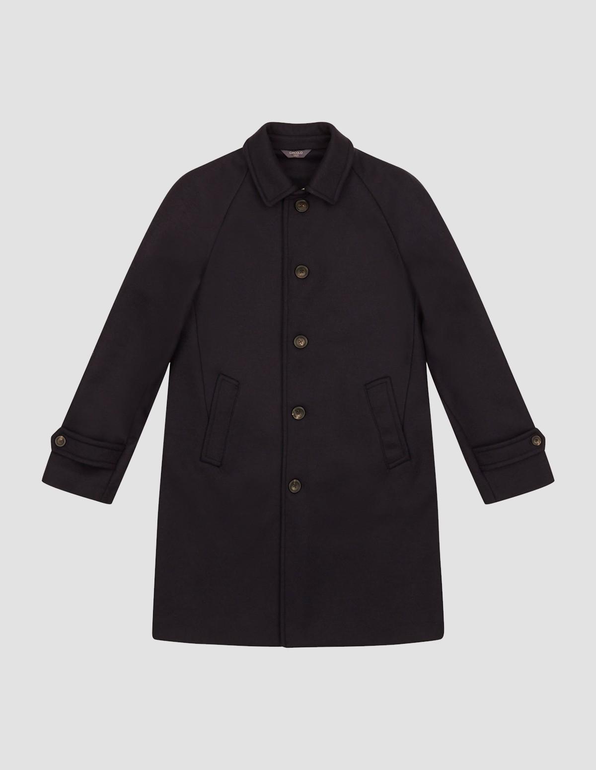 Circolo Man Raglan Coat - BLU