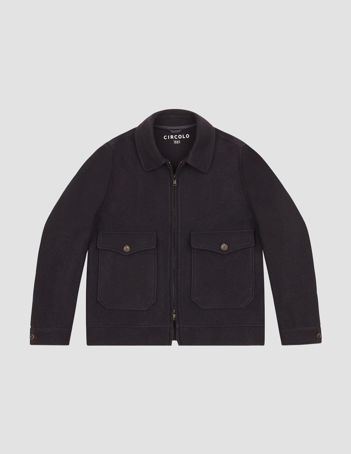 Circolo Man Zip Jacket - 6897 BLU