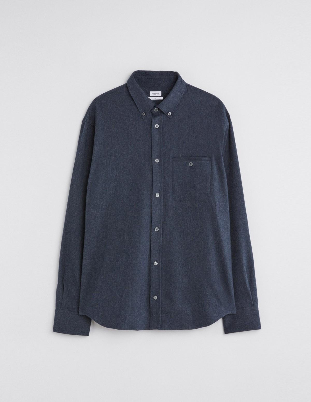 Fk Zachary Flannel Shirt - DARK BLUE