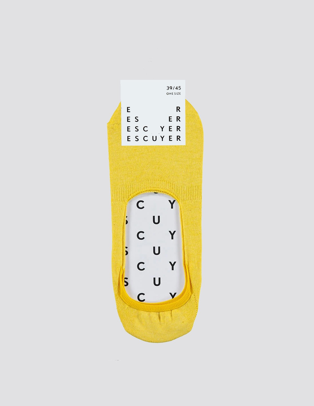 Escuyer Invisible Socks - YELLOW