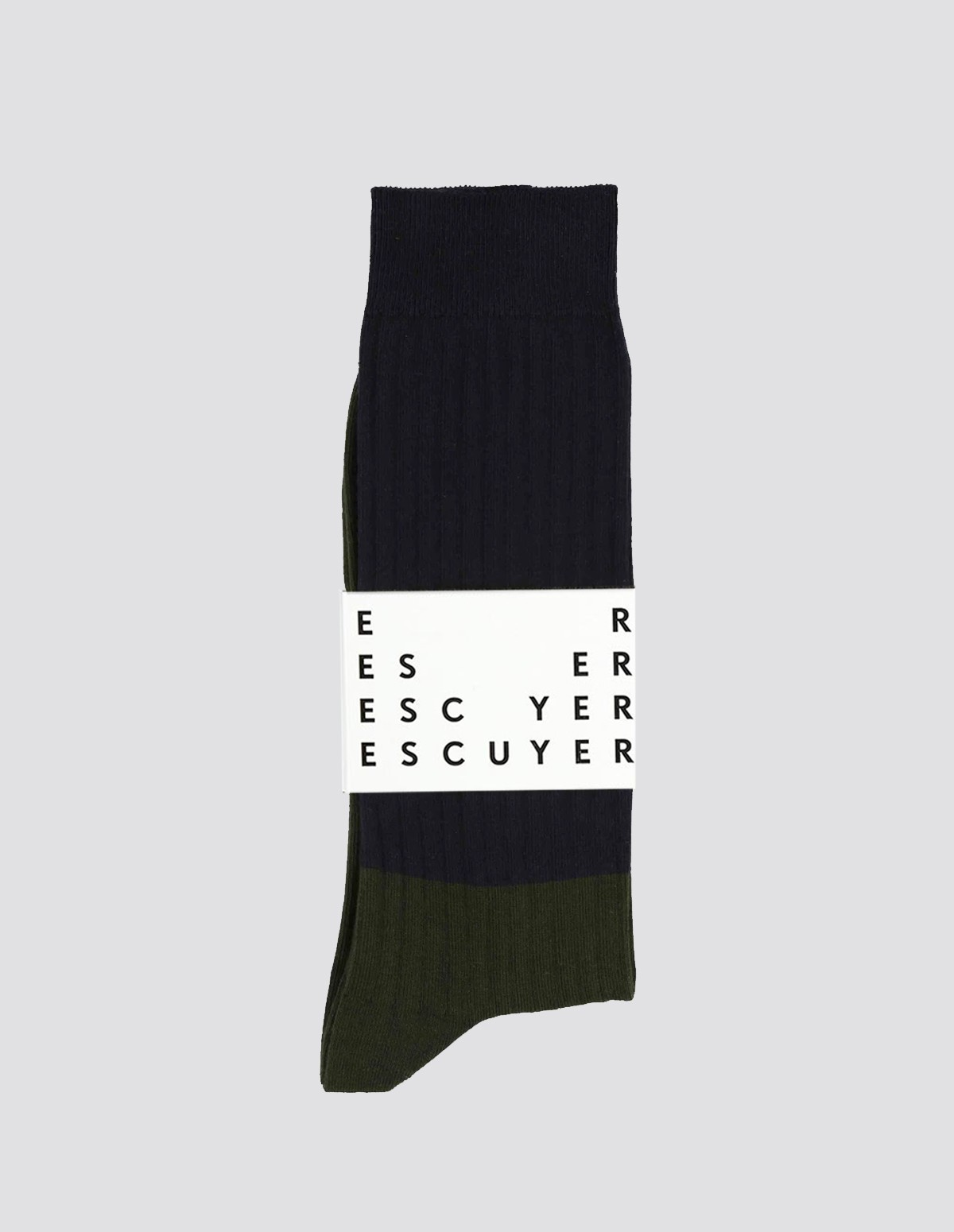 Escuyer Colour Block Socks - ECLIPSE/DUFFEL BAG