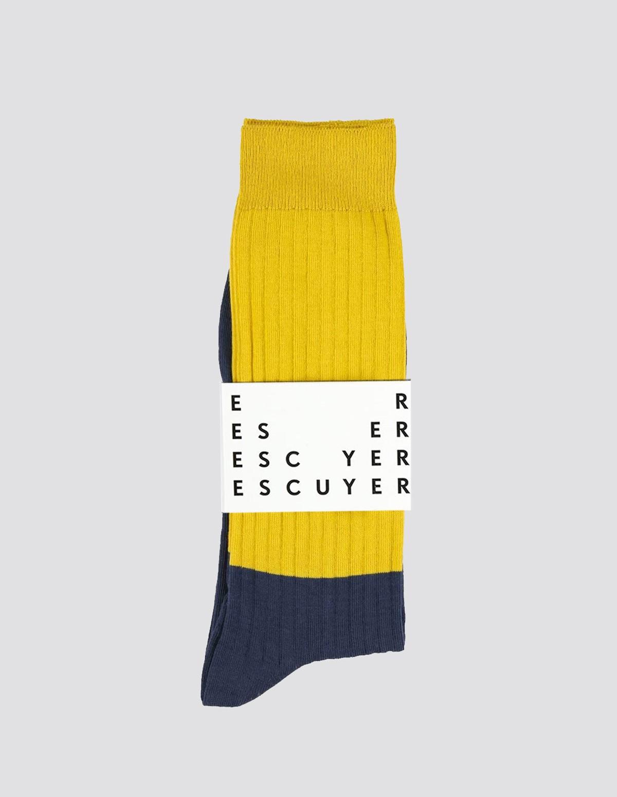 Escuyer Colour Block Socks - INCA GOLD/INSIGNA